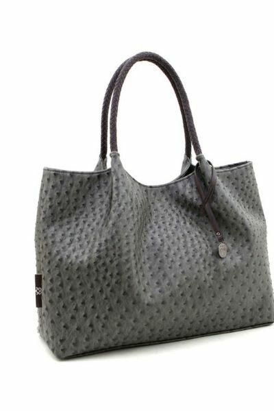 grey textured vegan handbag