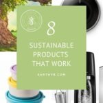 "Pin with re-usable lunch containers, sodastream and Nest thermostat with title ""8 sustainable products that work"""