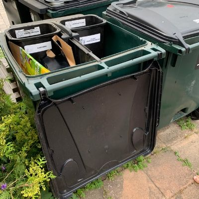 Swedish recycling containers in Lund