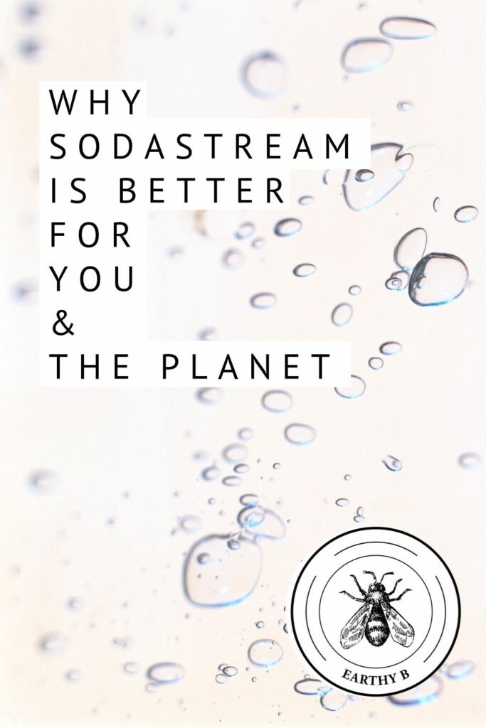 SodaStream sparkling water bubbles with text that read Why SodaStream is better for you and the planet