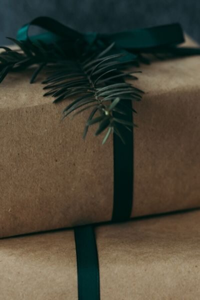 Packages wrapped in eco-friendly paper
