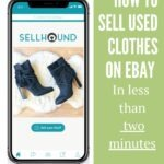 Pinterest pin with SellHound app in smartphone