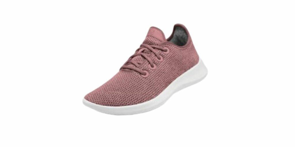 Pink All Birds environmentally friendly footwear