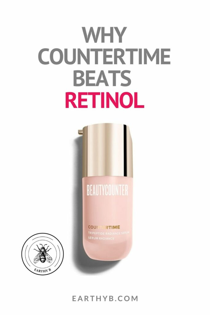 "BeautyCounter CounterTime Tripeptide radiance serum with text that reads ""Why CounterTime beats Retinol"""