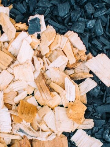 Wood chips before biomass energy and biochar