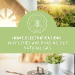 Pin with title Home electrification: Why cities are phasing out natural gas with image of electric cooktop