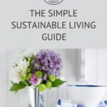 Pin that reads simple sustainable living guide