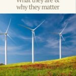 "Pinterest pin with wind turbines and text that reads ""Green bonds: What they are and why they matter"""
