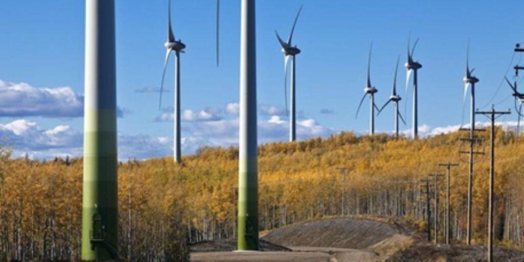 Wind farm in Northern British Columbia