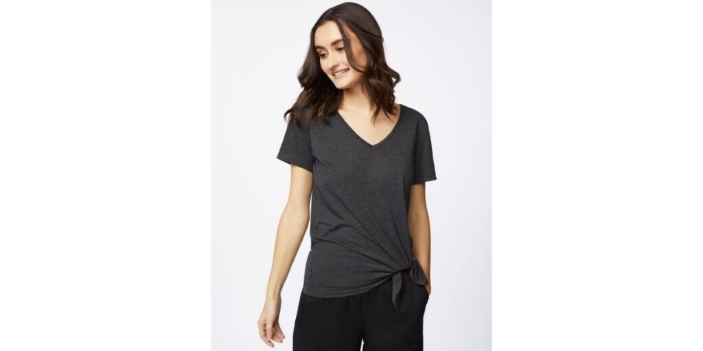 tentree women's t-shirt made from sustainable materials.