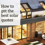 """home with solar panels and text that reads """"How to get the best solar quotes"""""""
