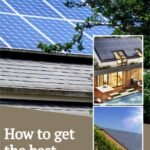 Three images of homes with a solar roof system with text that reads How to get the best solar quotes