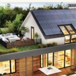 """Home with solar roof with text that reads """"How to get the best solar quotes"""""""