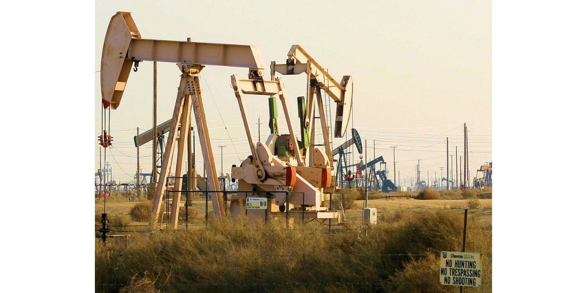 Pump Jack at the Lost Hills Oil Field In Central California.