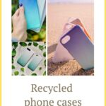 Three different images of recycled phone cases by Movement Case