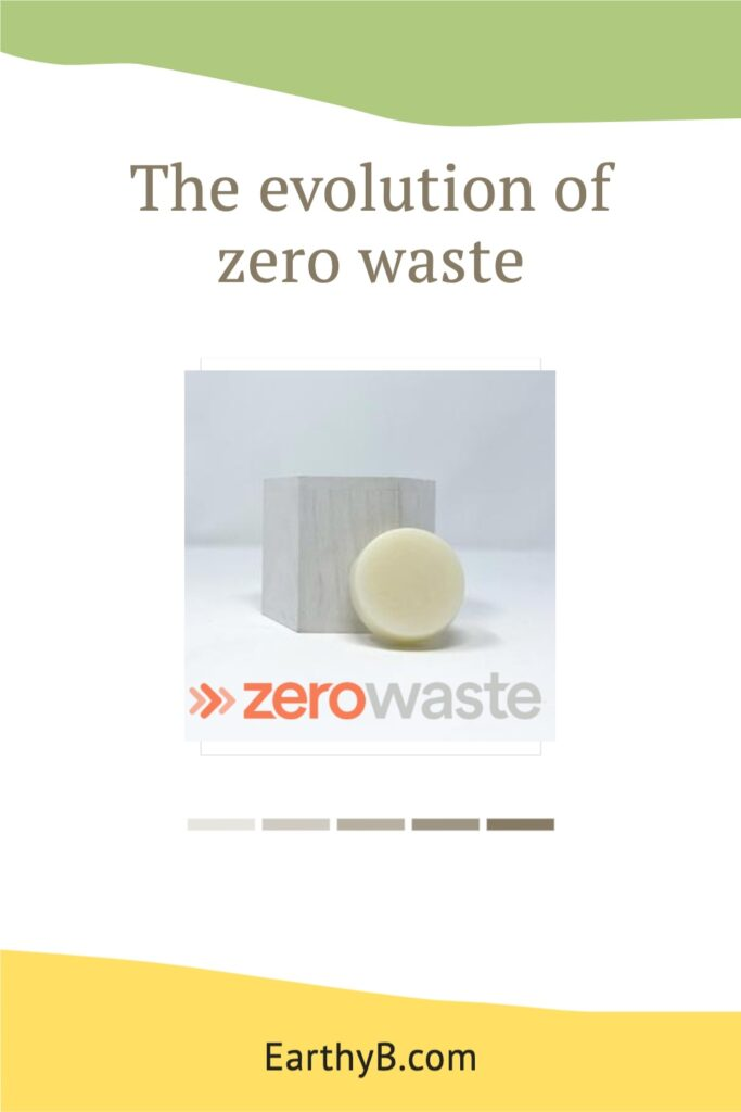 """Pinterest pin that reads """"the evolution of zero waste"""" with picture of zero waste soap"""
