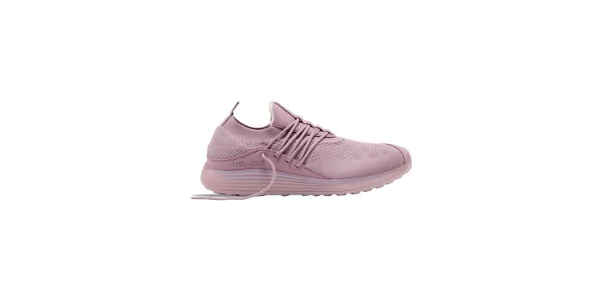 Lane-Eight pink running shoes.