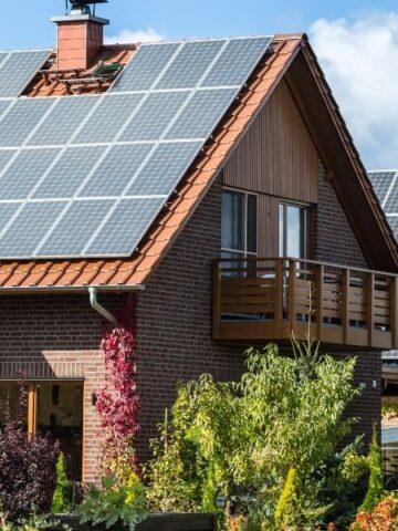solar panels on tile roof shingles