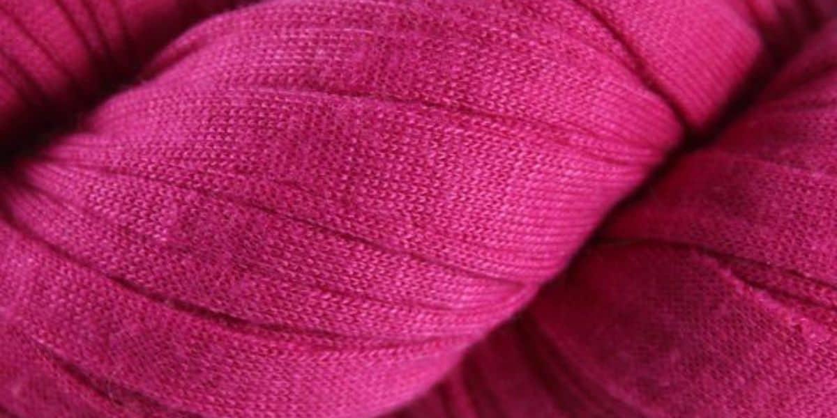 Pink recycled t-shirt yarn